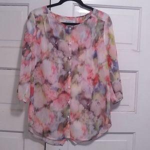 Liz Claiborne, floral size medium blouse .
